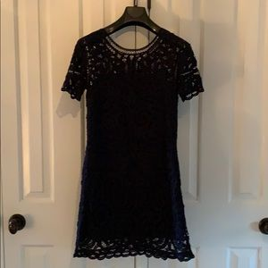 Sea NY navy lace minidress, satin lined